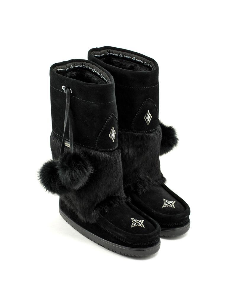 Manitobah Manitobah Waterproof Snowy Owl Mukluk Black