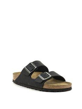 Birkenstock Arizona Black Waxy Leather Soft Footbed Regular Width