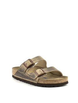 Birkenstock Arizona Tobacco Waxy Leather Soft Footbed Regular Width