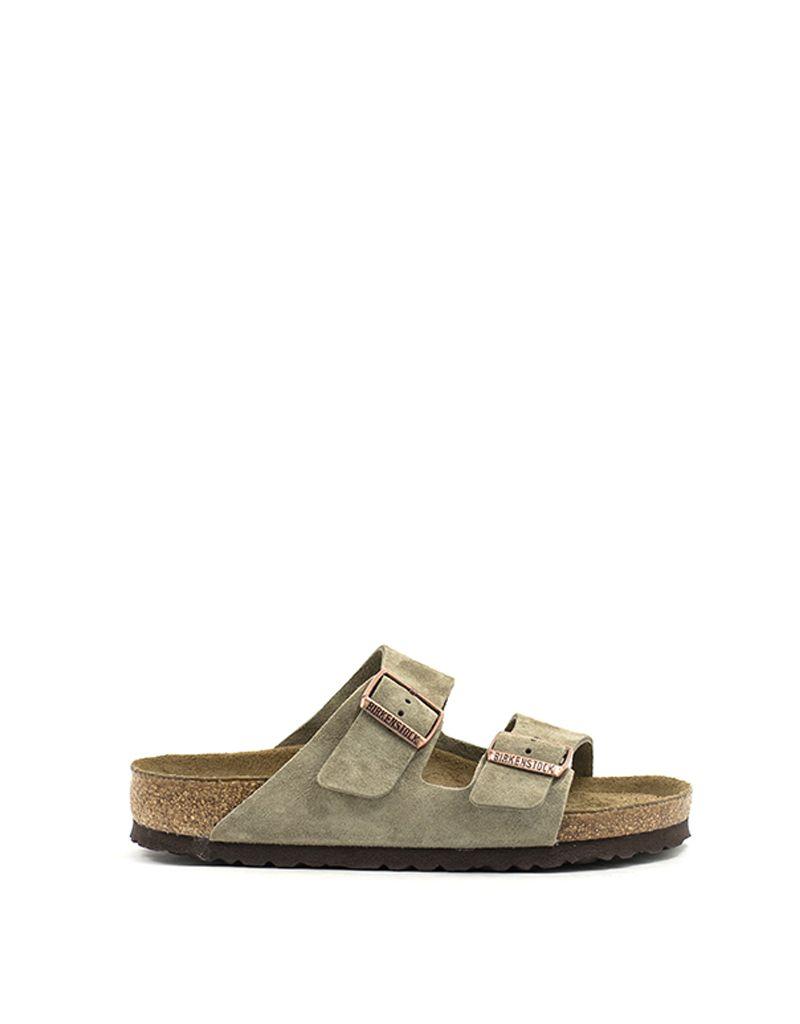 9798ebb83 Birkenstock Birkenstock Arizona Taupe Suede Soft Footbed Regular Width