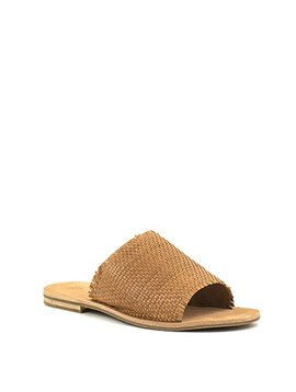 Frye Riley Woven Slide Tan