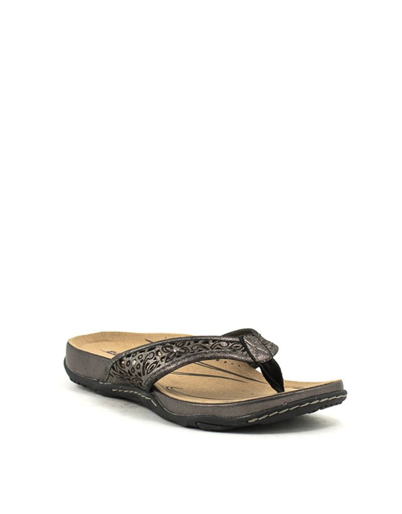 0194b45919e8 Earth — Maya Sandals in Pewter at Shoe La La