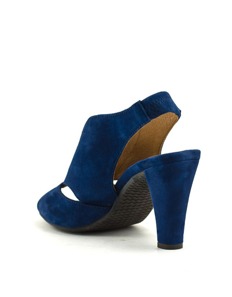 03904af9f Ateliers — Downey Sandal in Blue Kid Suede at Shoe La La
