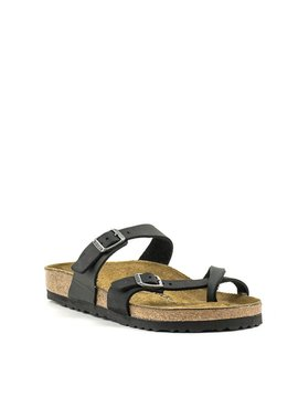 Birkenstock Mayari Black Oiled Leather Regular Width