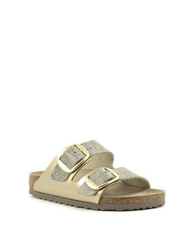 Birkenstock Arizona Big Buckle Leather Ceramic Pattern Blue Narrow Width