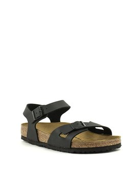 Birkenstock Rio Sandal Birko Flor Black Regular Width