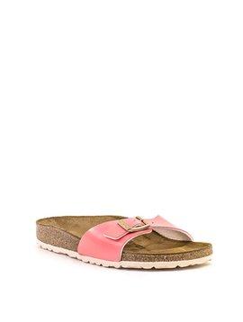 Birkenstock Madrid Sandal 2 Tone Cream Coral Birko Flor Narrow Width
