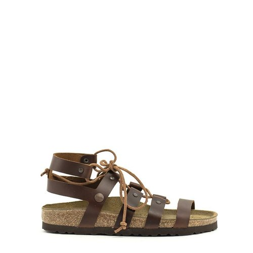 Birkenstock Cleo Sandal In Cognac Leather At Shoe La La