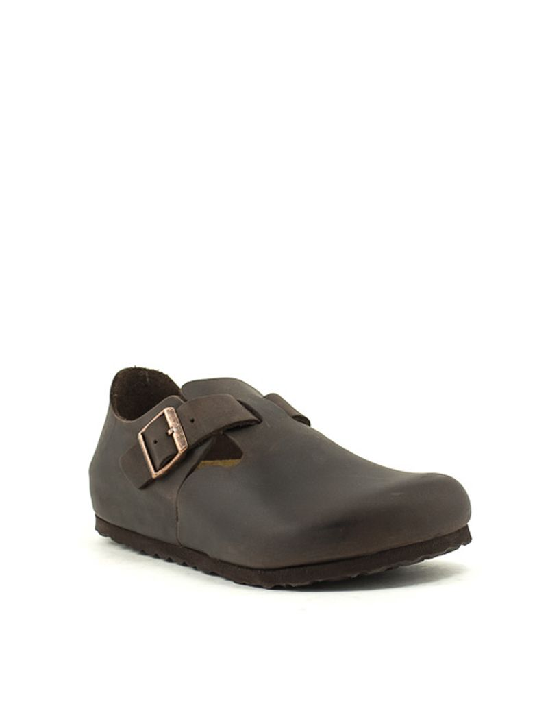 Birkenstock Birkenstock London Havana Waxy Leather Regular Width