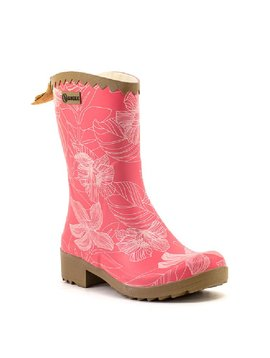 Aigle Victorine Bottillon Rain Boot Raspberry Flowerline