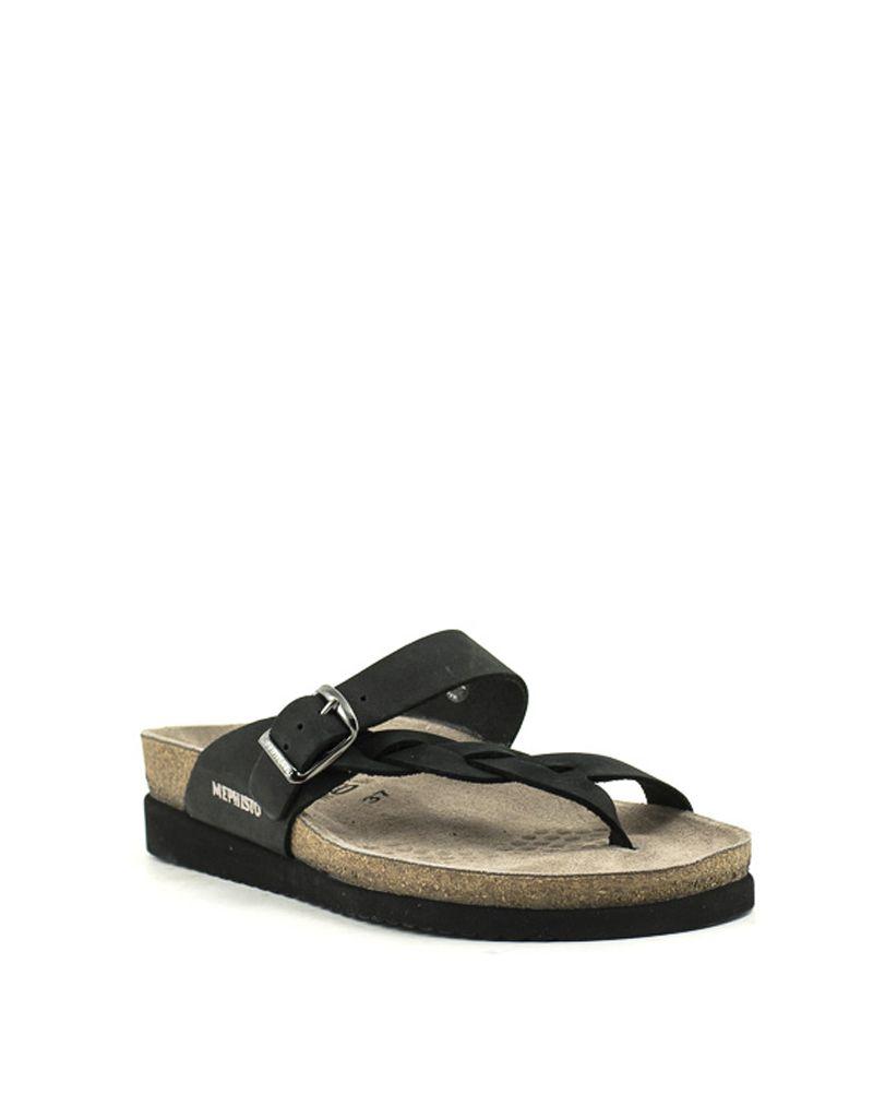 5097bdcf71 Mephisto — Helen Twist sandal in black at Shoe La La