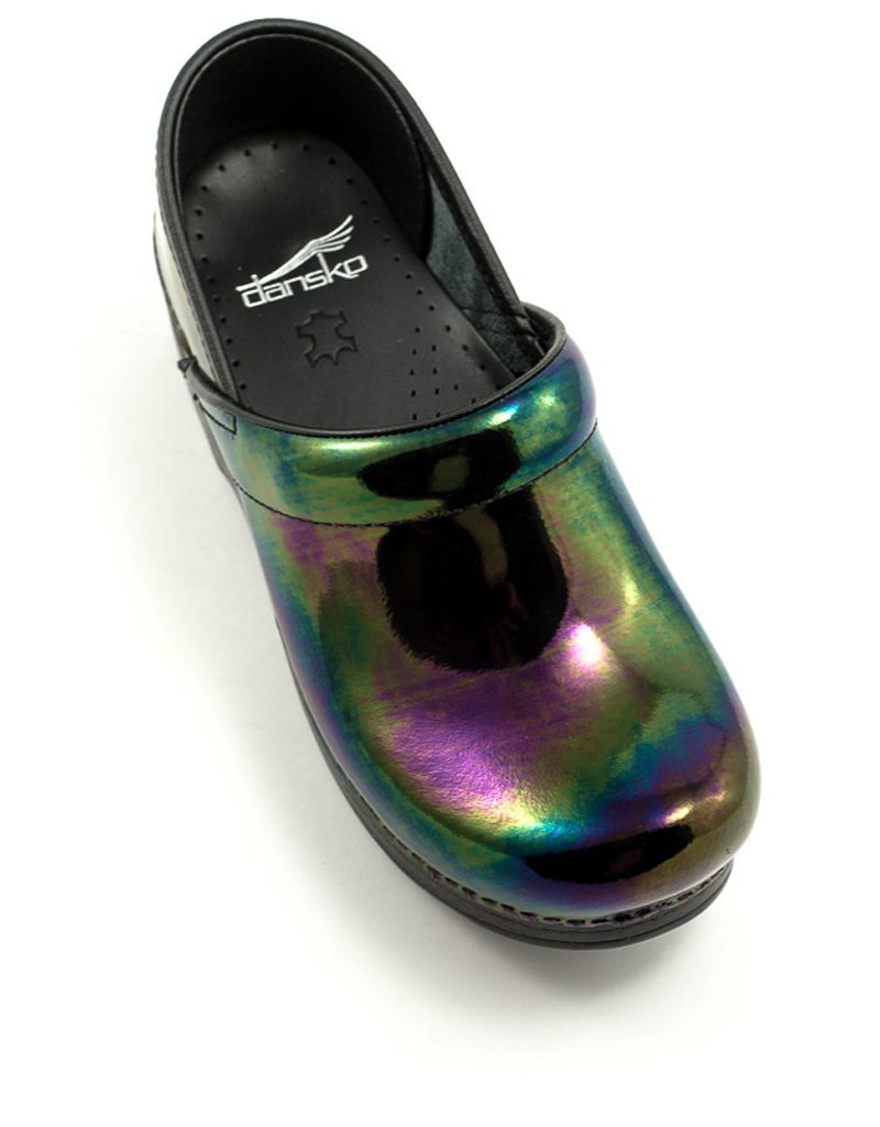 Dansko Professional Clog In Petrol Patent At Shoe La La