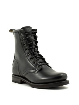 Frye Veronica Combat Boot Black