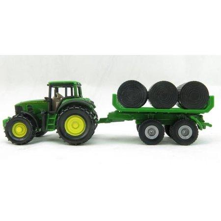 SIKU SIKU John Deere 7530 Tractor with Bale Trailer Ireland Edition Nr. 1632
