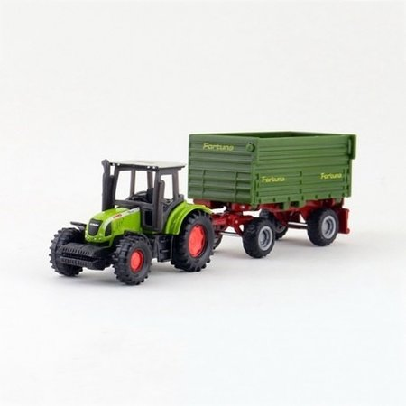 SIKU SIKU Claas Tractor with 2-Axled Trailer Nr. 1634