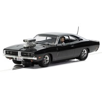 SCALEXTRIC DODGE CHARGER (GLOSS BLACK) WITH BLOWER C3936