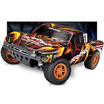 TRAXXAS  1/10 SLASH 4WD BRUSHED  XL BRUSHLESS SHORT COURSE TRUCK BLUE  REQUIRES BATTERY & CHARGER With Titan 12T 550 and XL-5 ESC, TQI 2.4 GHZ RADIO,  INCLUDES 8.4V  BATTERY & 12V DC CHARGER