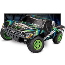 TRAXXAS 1/10 SLASH 4WD BRUSHED VXL SHORT COURSE TRUCK GREEN INCLUDES 8.4V BATTERY & 12V DC CHARGER