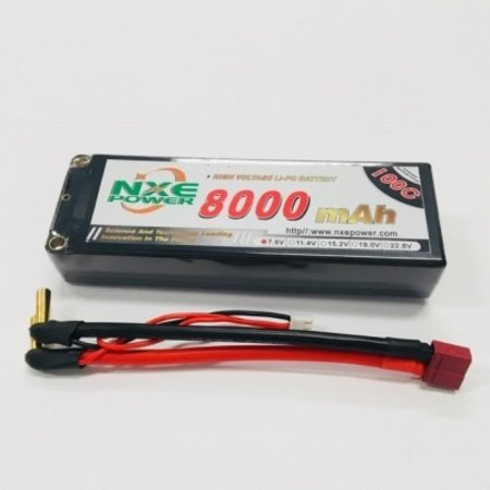 NXE POWER NXE POWER 7.6V 8000MAH 100C HARD CASE WITH DEANS PLUG