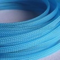 ACE 10MM PLASTIC MESH SLEEVING LIGHT BLUE PER METER