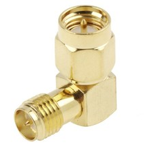 Gold Plated SMA Male to RP-SMA Female Adapter