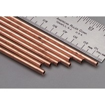 """K & S SMALL COPPER TUBE 3/32 + 1/8 + 5/32 X 12"""" BENDABLE  3 PCE 3 SIZES"""