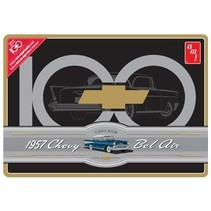 AMT 1957 CHEVY BELAIR 1/25 IN COLLECTABLE METAL TIN