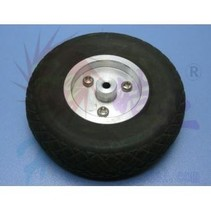 HY SCALE AIR RUBBER WHEEL ALUM RIM 4&quot; 102mm<br />