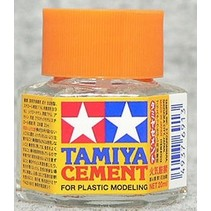 TAMIYA CEMENT BRUSH ON  40ML BOTTLE