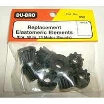 DUBRO REPLACEMENT ELASTOMERIC ELEMENTS FOR .50 TO .75 MOTOR MOUNTS