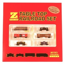 MICRO TRAINS Western Pacific F7 Set Table Top Train Set Z SCALE - No Track Inlcuded