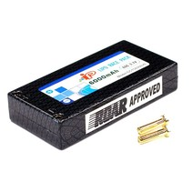 IP LIPO HARD CASE 7.4V 60 C 6000 MAH ( SADDLE PACK SET 2 X 3.7V )  FITTED WITH DEENS STYLE CONNECTOR  ROAR APPROVED