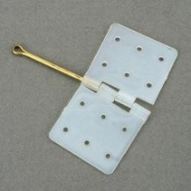 DUBRO NYLON HINGES. HINGE PIN LOCKED IN PLACE CAT. NO. 117