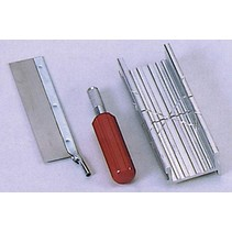 EXCEL MITRE BOX SET WITH #5 KNIFE HANDLE & FINE TOOTH SAW
