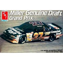 AMT 1990 PONTIAC GRAND PRIX MILLER GENUINE DRAFT #27 RUSTY WALLACE 1/25 NASCAR