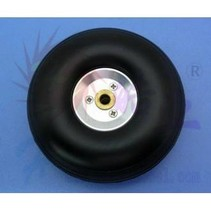 HY ALLOY RIM WHEEL W/RUBBER TYRE 76 X 5 X 27MM   3&quot;<br />