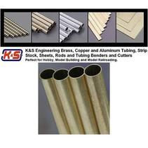 """K & S LARGE ALUMINIUM TUBE  3/16 + 7/32 + 1/4 X 12"""" 3 PCS 3 SIZES"""