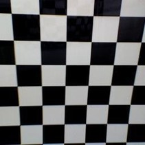 HY COVERING CHECKERS BLACK &amp; WHITE  638MM  2MT ( 30mm squares )<br />( OLD CODE HY440402 )