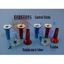 HY CONTROL STICKS MUSHROOM TYPE JR SPEKTRUM  13MM<br />( OLD CODE HY132802 )