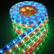 LED WATERPROOF ROPE LIGHT ASSORTED COLOURS 1 METRE LENGTH 60 LEDS PER METRE IN WHITE, BLUE, RED, YELLOW AND GREEN