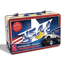 AMT USA-1 MONSTER TRUCK KIT WITH COLLECTIBLE METAL LUNCH BOX