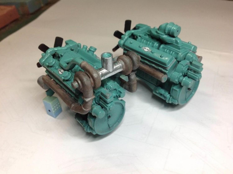 Auslowe Auslowe E14 Detroit V12 Turbo Engine Kit New Acercmodels