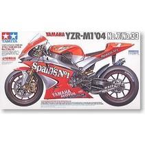 Tamiya 1/12 Scale Model Motorcycle Kit Fortuna Yamaha YZR-M1 MotoGP '04