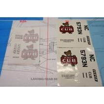 SIG 1/6 SCALE J 3 CUB DECAL