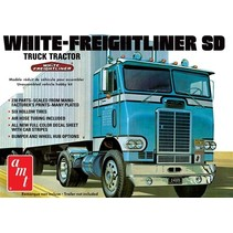 AMT 1/25 WHITE FREIGHTLINER SINGLE DRIVE TRACTOR
