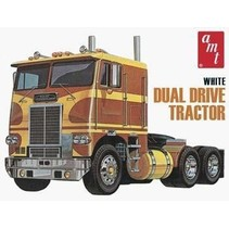 AMT WHITE FREIGHTLINER DUAL DRIVE TRACTOR TRUCK