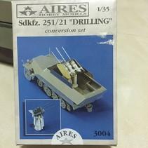 AIRES 1/35 Sd.Kfz. 251/21 Drilling CONVERSION FOR TAMIYA KIT