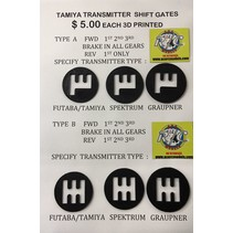 3 PRINTED SHIFT GATE SELECT  TYPE A OR B & RADIO TYPE