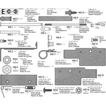 TAMIYA E PARTS SUITS Mercedes Benz 1838LS Tractor Truck 1/14 (56305)<br />- Volvo FH12 Globetrotter 420 1/14 (56312)