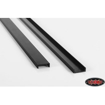 RC4WD 0083 1/14 TRACTOR TRUCK CHASSIS RAILS UNDRILLED BLACK ( 1 PAIR ) <br />